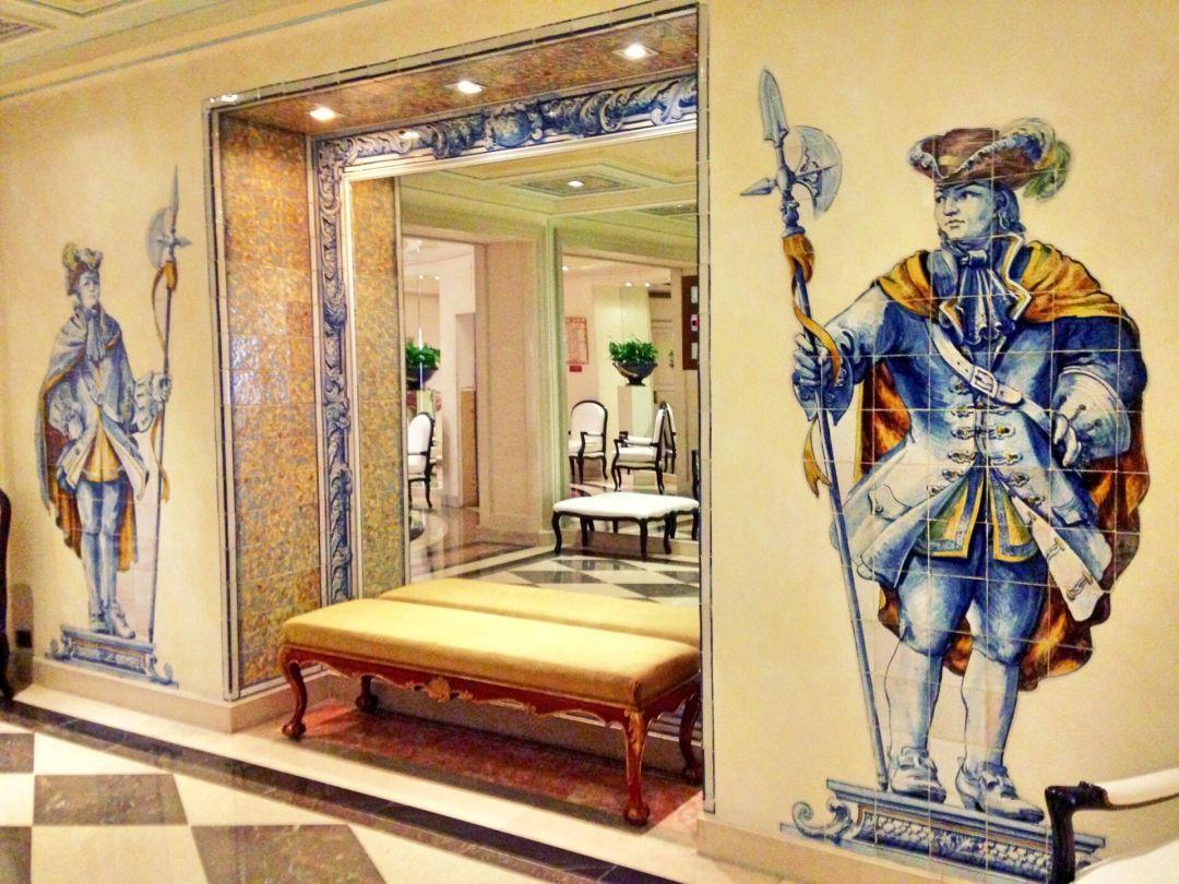 Azulejo tiles Lapa Palace