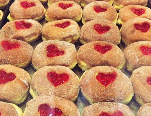 Valentine's bolas de Berlim