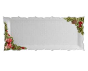 Bordallo Pinheiro Christmas tart tray