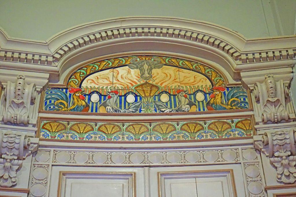 Rooster tiles Padaria São Roque