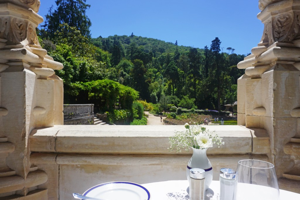 Eating with a view at Buçaco palace hotel
