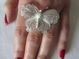 Daniela Butterfly Silver Ring 4