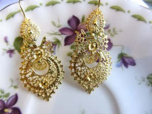 Maria Earrings Gold M 1