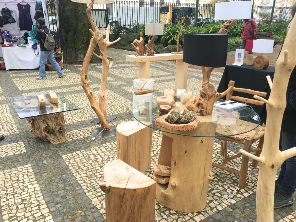 Wood art at Crafts & Design fair