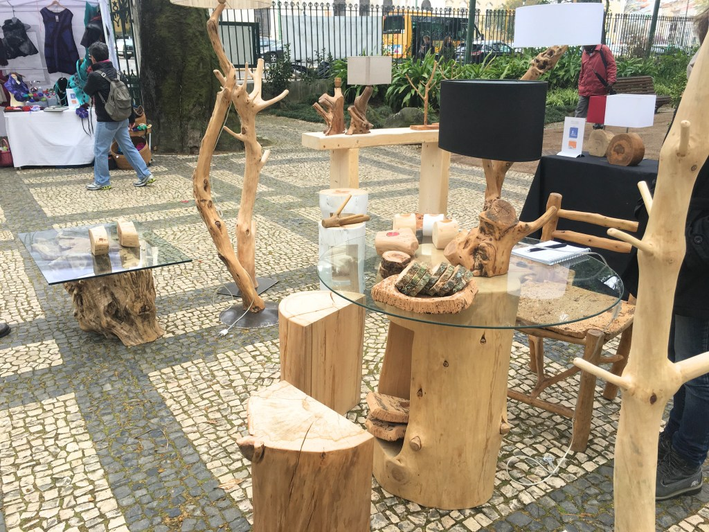 Wood art at Crafts & Design fair