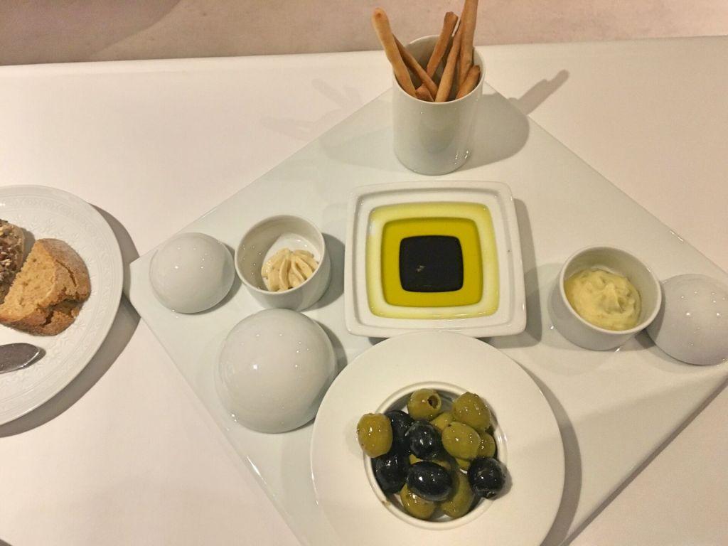 Olive oil at Montebelo restaurant