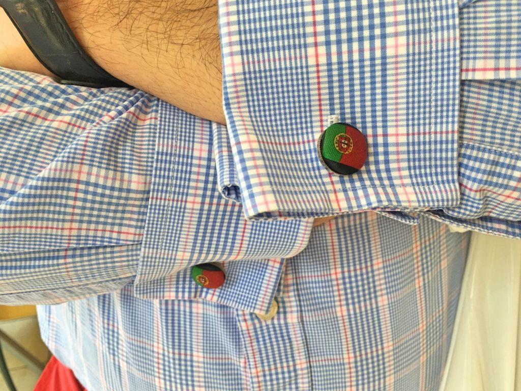 Portuguese flag cufflinks