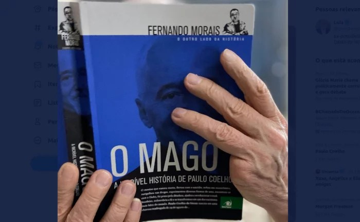 Lula provoca bolsonaristas e posta foto lendo Paulo Coelho.