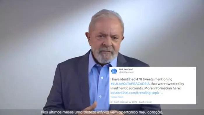 Robôs do gabinete do ódio atacam Lula, após discurso do 7 de setembro.