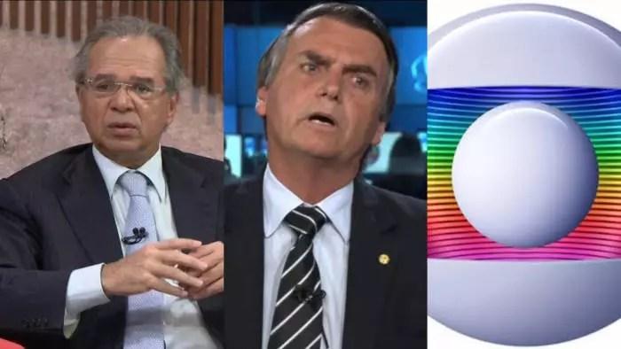Globo, Bolsonaro e Guedes, uma aliança pelo mercado financeiro.