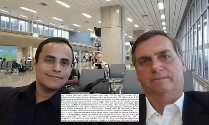 Assessor de Bolsonaro confessa repasse de vídeos do presidente a canais de extrema-direita no youtube, em depoimento à PF.