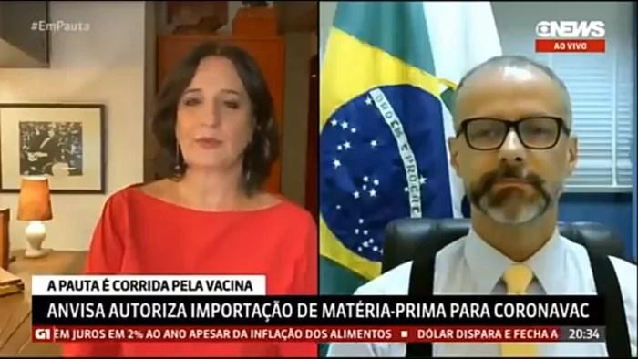 Vídeo: Na GloboNews, Mônica Waldvogel é desmentida ao vivo pelo presidente da Anvisa
