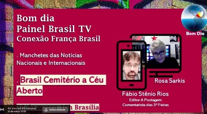 ASSISTA: Bom dia Painel Brasil TV Conexão França Brasil 23 de março