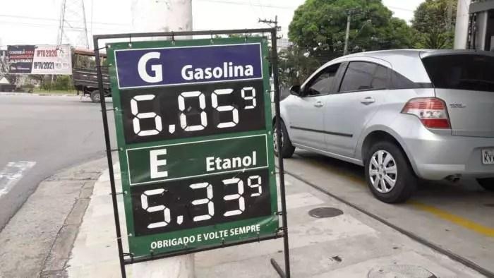 Mais um aumento! Combustíveis têm reajuste de 5% a partir de amanhã (02).