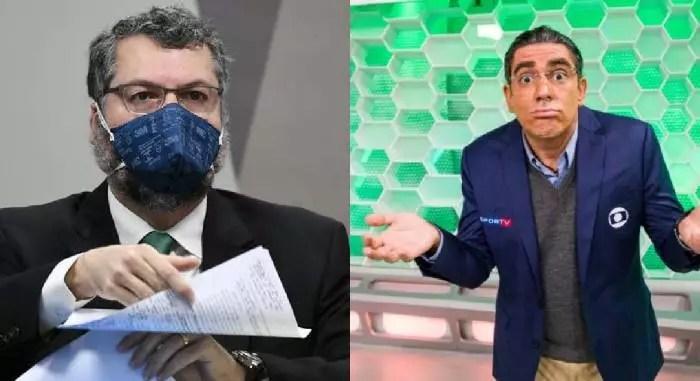 Vídeo – CPI: Adnet coloca Galvão e Casão narrando o depoimento de Ernesto Araújo.