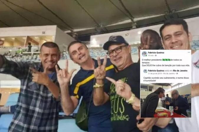 """Depois """"ameaças veladas"""", Queiroz volta a mostrar nas redes que ele e Bolsonaro são uma só pessoa."""