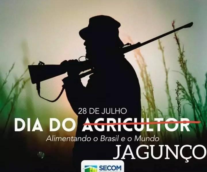 Dia do agricultor e Bolsonaro posta foto de jagunço como homenagem