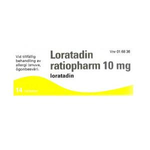 Loratadin ratiopharm 10 mg 14 tabletter