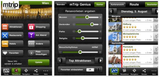 Reiseführer mTrip Wien Screenshot