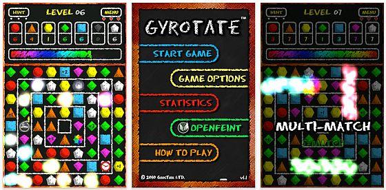 Screenshot iPhone Spiel Gyrotate