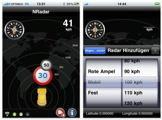 Screenshot NRadar DACH