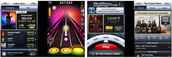 Screenshot Tap Tap Revenge