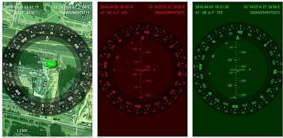 Screenshots Commander Compass für iPhone 3 GS