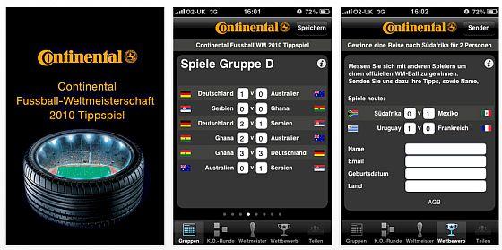 Screenshots Conti WM Spiel
