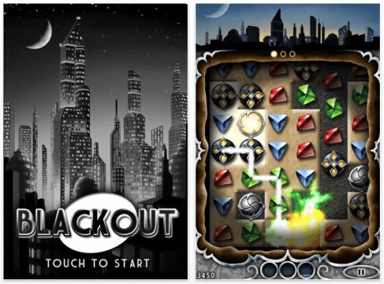 Screenshot iPhone Spiel Blackout von Disney Interactive