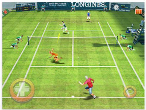 Screenshot Real Tennis HD von gameloft für das iPad