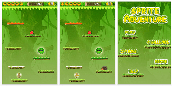 Sprite Adventure screen