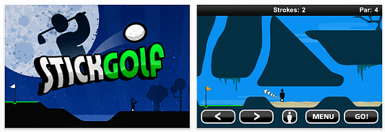 Screenshot Stick Golf für iPhone und iPod Touch
