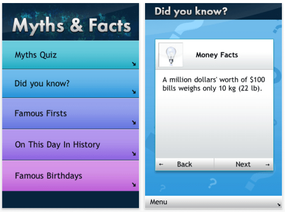 Screenshot Myths & Facts für iPhone und iPod Touch