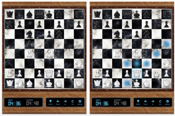 Screenshot iSchach für das iPad