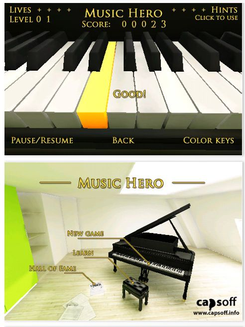 Screenshots Music Hero für iPhone und iPod Touch