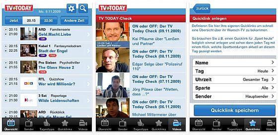 TV Today App Screenshot
