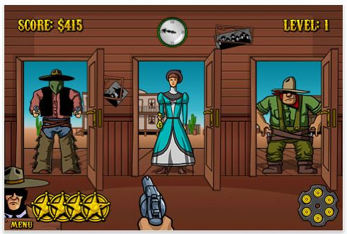 Westbang Iphone und iPod Touch Spiel Screenshot
