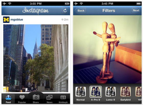Instagram iPhone-Foto-App Screenshot