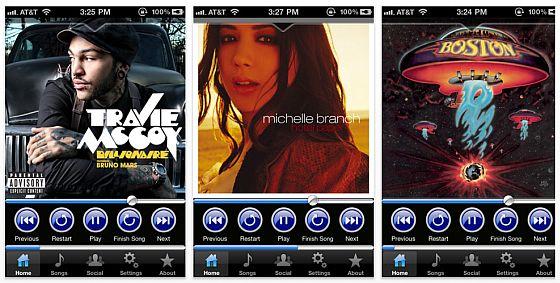 My DJ iPhone App Screenshot