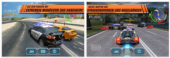 Need for Speed Hot Pursuit Screenshot der iPhone Version