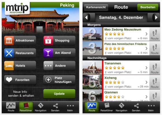 mTrip Peking Reiseführer für iPhone und iPod Touch Screenshot