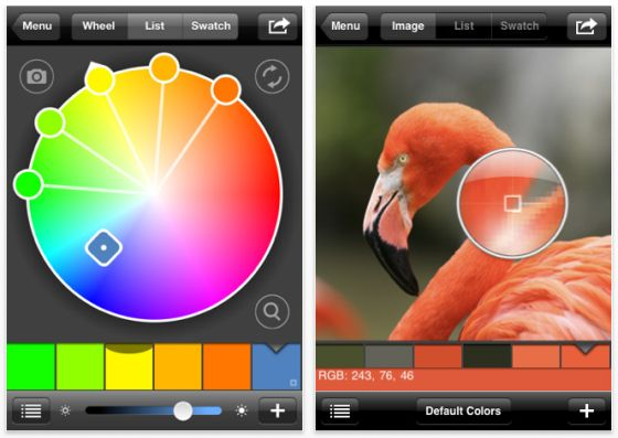 Color Expert iPhone App Screen