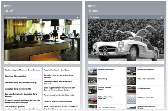 Mercedes-Benz Classic App iPad Screenshot