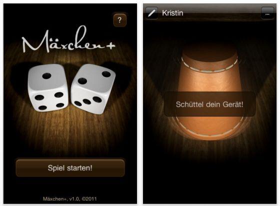 Mäxchen+ für das iPhone Screenshots
