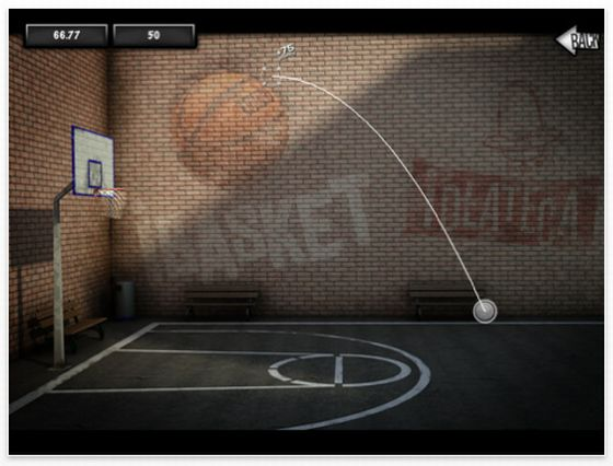 iBasket Pro HD Screenshot iPad Basketball-Spiel