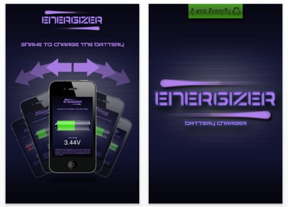 Energizer iPhone App Screenshot