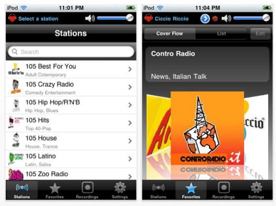 Home Radio Italy Radio-App für iPhone und iPod Touch