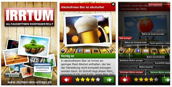 Irrtum - Alltagsmythen richtiggestellt App Screenshots