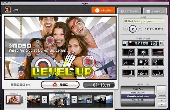 Moso Videosoftware für den mac - Bedienoberfläche