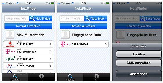 Netzfinder - Netzbetreiberinfo für iPhone Nutzer - Screenshots